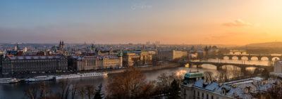 Les ponts de Prague (Tchèquie)