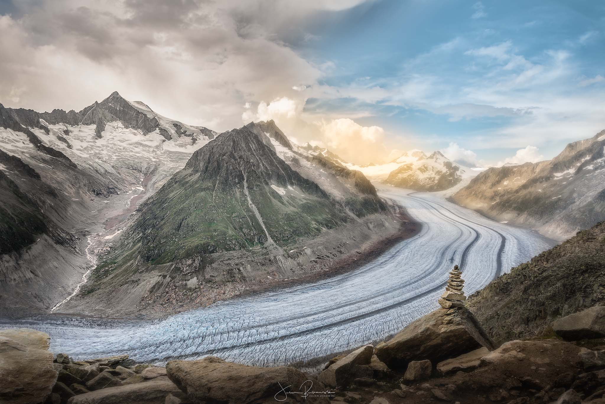 Glacier d'Aletsch (Plus grand glacier d'Europe - Suisse)