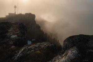 Le Chasseron embrumé (Suisse)