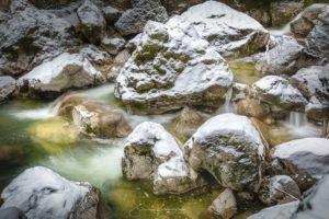 Les gorges en hiver (Gorges de l'Areuse - Suisse)