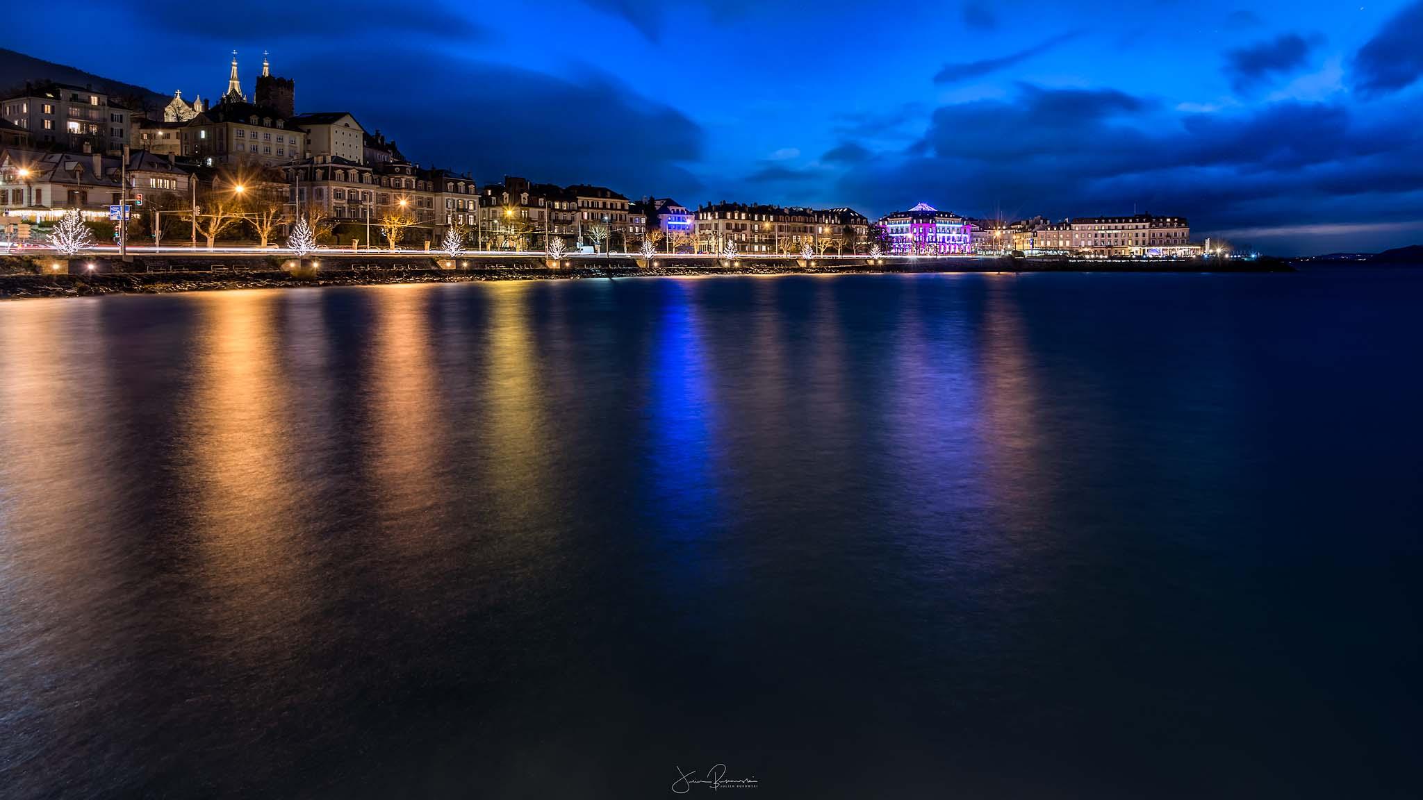 Neuchâtel Christmas night