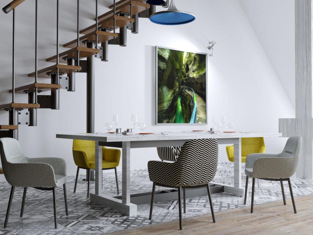 Living-vertical-frame